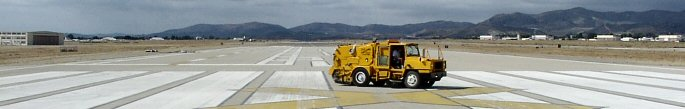 Construction Sweeping on Runway